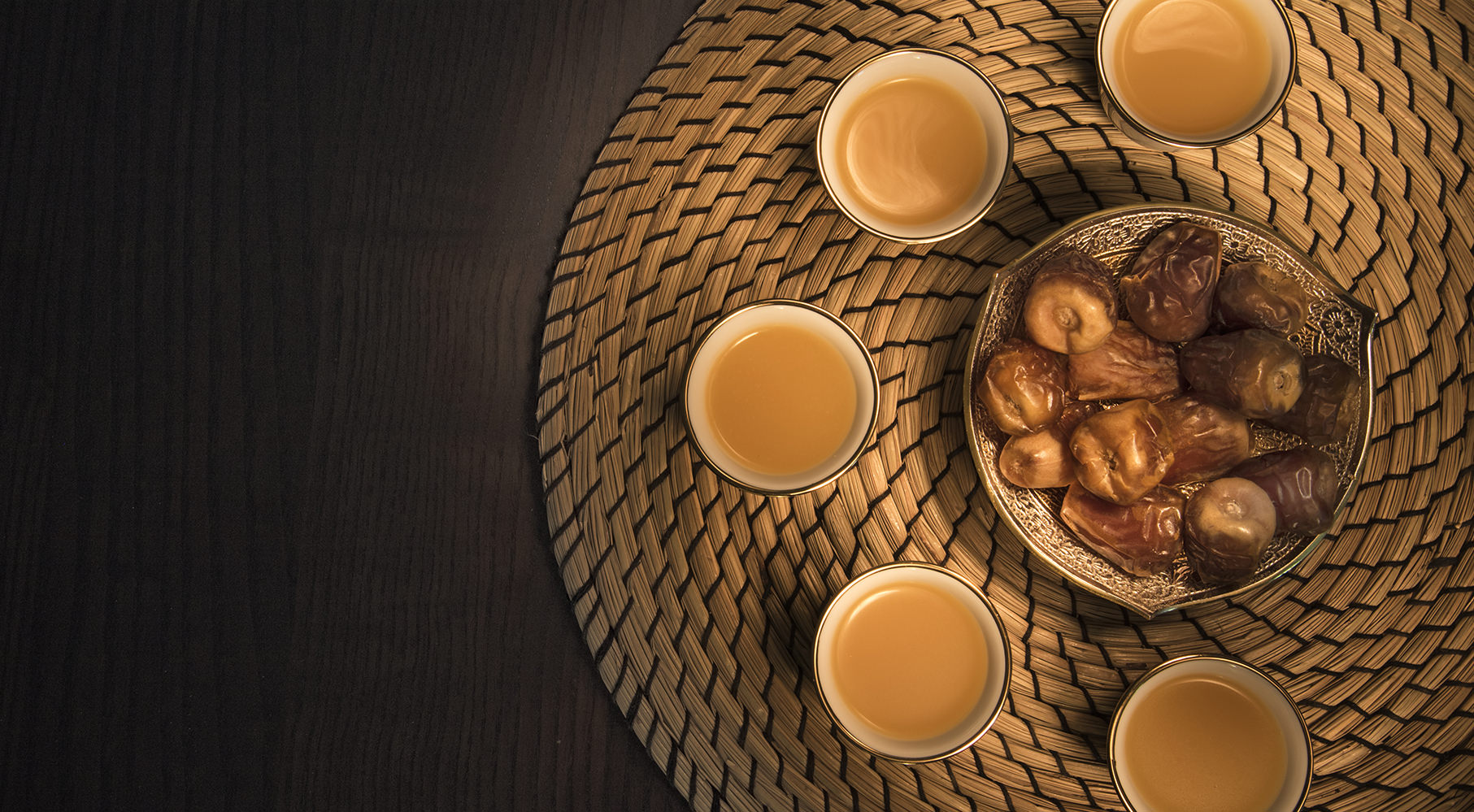 healthy Dates and tea on the table Banner Image